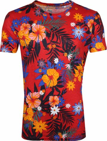 KnowledgeCotton Apparel T-shirt Bloemen