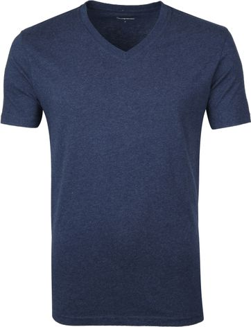 KnowledgeCotton Apparel V-Neck Dunkelblau