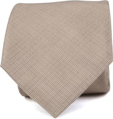 Krawatte Seide Beige K82-1