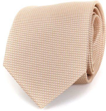 Krawatte Seide Beige Motiv
