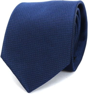 Krawatte Seide Dunkelblau Motiv