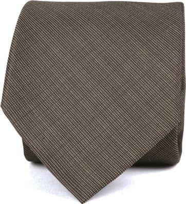 Krawatte Seide Dunkelbraun K82-1