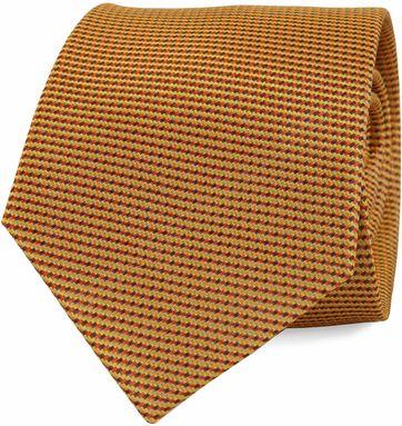 Krawatte Seide Gold Motiv