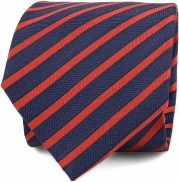 Krawatte Seide Navy Rot Streifen F82-1