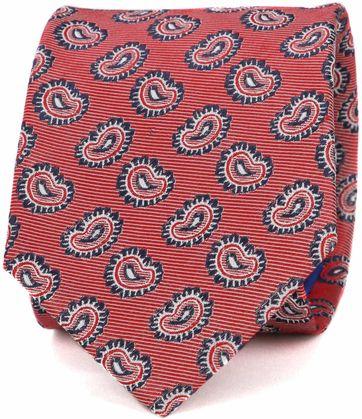 Krawatte Seide Paisley Rot
