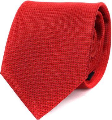 Krawatte Seide Rot Motiv
