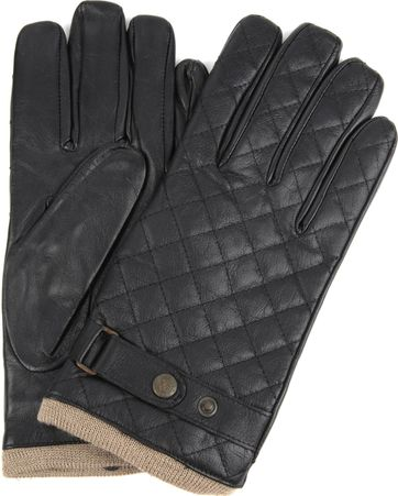 Laimbock Quilted Gloves Blacos Black