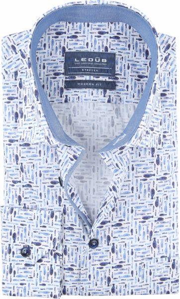 Ledub Hemd Fisch Blau