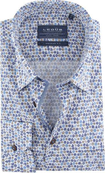 Ledub Hemd MF Blau Schiffe
