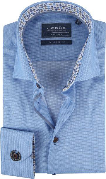 Ledub Overhemd Blauw Schepen SL7