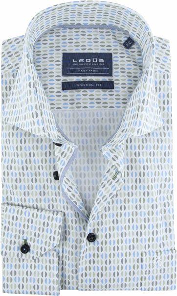 Ledub Overhemd Dessin Groen