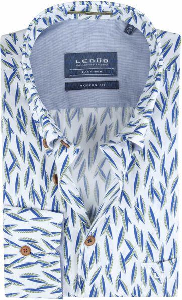 Ledub Overhemd Easy Iron Bladeren