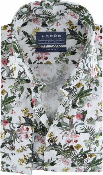 Ledub Overhemd Easy Iron Bloemen