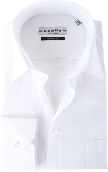 Ledub Shirt White Modern Fit