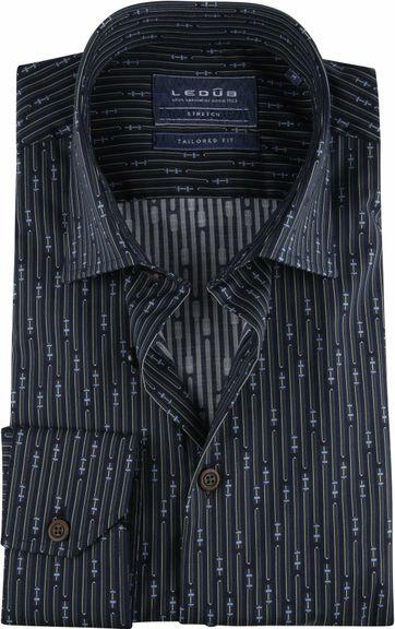 Ledub TF Hemd Dessin Dunkelgrün