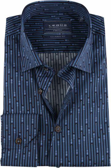 Ledub TF Overhemd Dessin Navy
