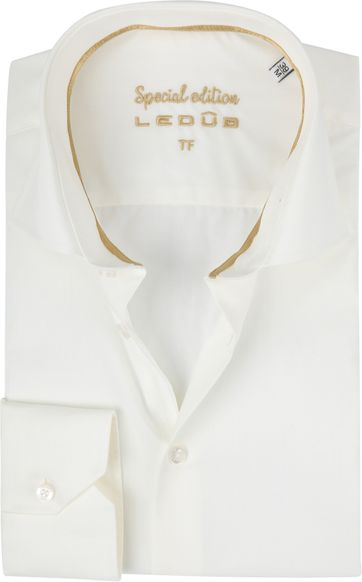Ledub Wedding Shirt Non Iron Ecru