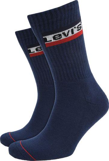 Levi\'s 2-Pack Sportswear Socken Dunkelblau