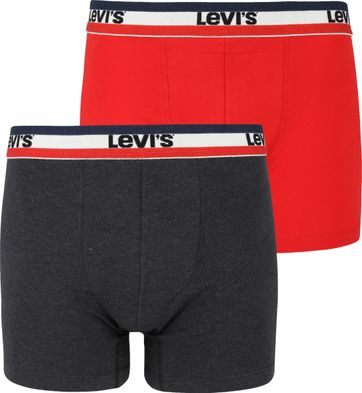 Levi's Boxershorts 2-Pack Red Grey