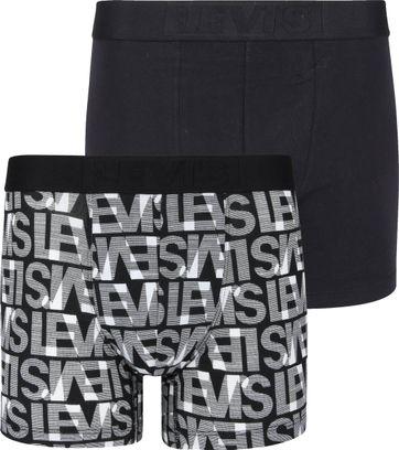 Levi\'s Boxershorts 2-Pack Schwarz Weiß
