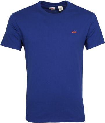 Levi's T-shirt Small Logo Blauw