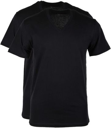 Levi's T-shirt V-Neck Black 2-Pack