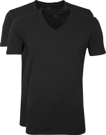 Levi's T-Shirt V-Neck Black 2Pack