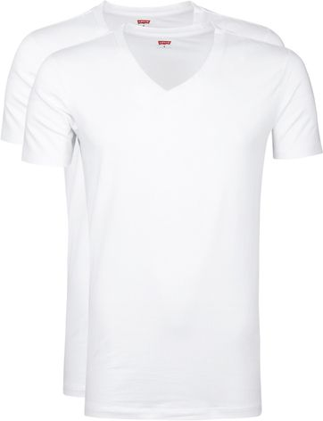 Levi's T-Shirt V-Neck White 2Pack