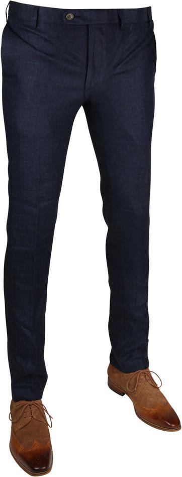 Linen Pantalon Navy