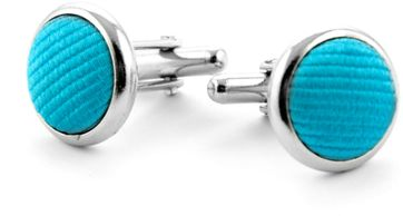Manschettenknöpfe Seide Aqua Blau F24