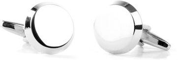 Manschettenknöpfe Silber großer Kreis