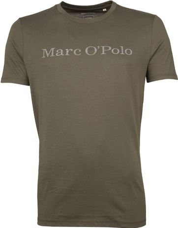 Marc O'Polo Logo T-shirt Groen