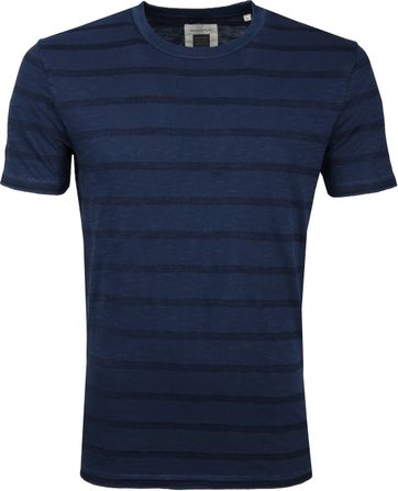 Marc O'Polo Logo T-shirt Streep Navy