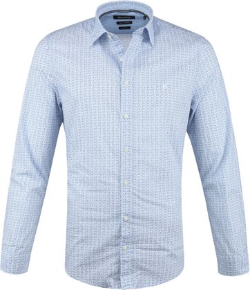 Marc O'Polo Overhemd Blauw Fietsen