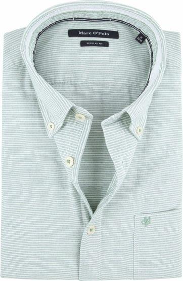 Marc O'Polo Overhemd Groen Strepen