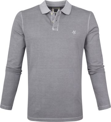 Marc O'Polo Poloshirt LS Grey