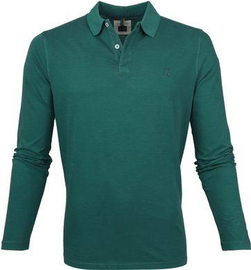 Marc O'Polo Poloshirt LS Stripes Green