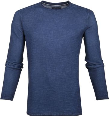 Marc O'Polo Pullover Structured Dark Blue