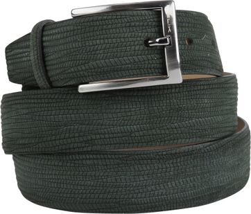 Melik Belt Dark Green Suede