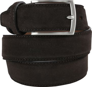 Michaelis Belt Suede Dark Brown