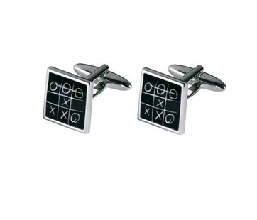 Michaelis Cufflinks Tic-Tac-Toe