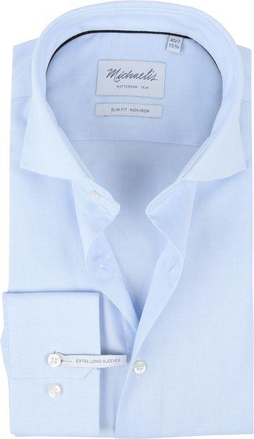 Michaelis Overhemd Dessin Lichtblauw SL7