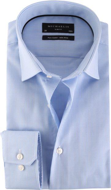 Michaelis Overhemd Skinny Blue Check