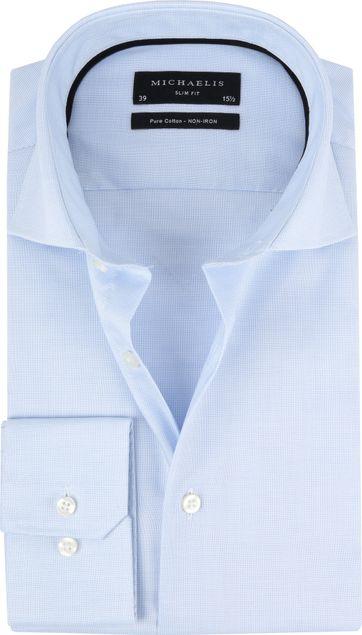 Michaelis Overhemd Skinny Blue Dessin