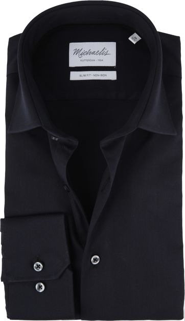 Michaelis Overhemd Skinny Zwart