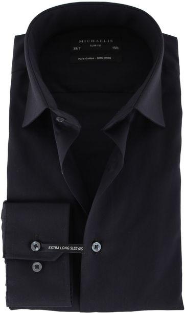 Michaelis Overhemd Zwart SL7