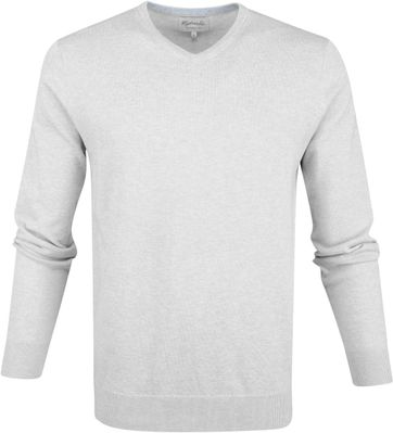 Michaelis Pullover V-Neck Light Grey