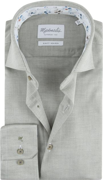 Michaelis Skinny Hemd Oxford Grün