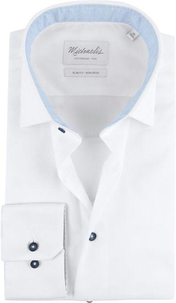 Michaelis Skinny Hemd Oxford Weiß