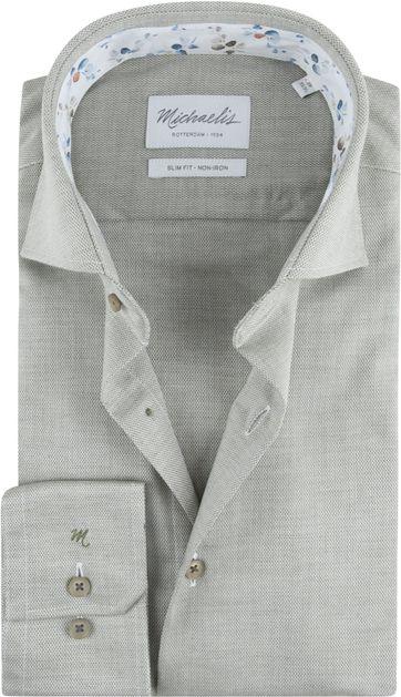 Michaelis Skinny Overhemd Oxford Groen